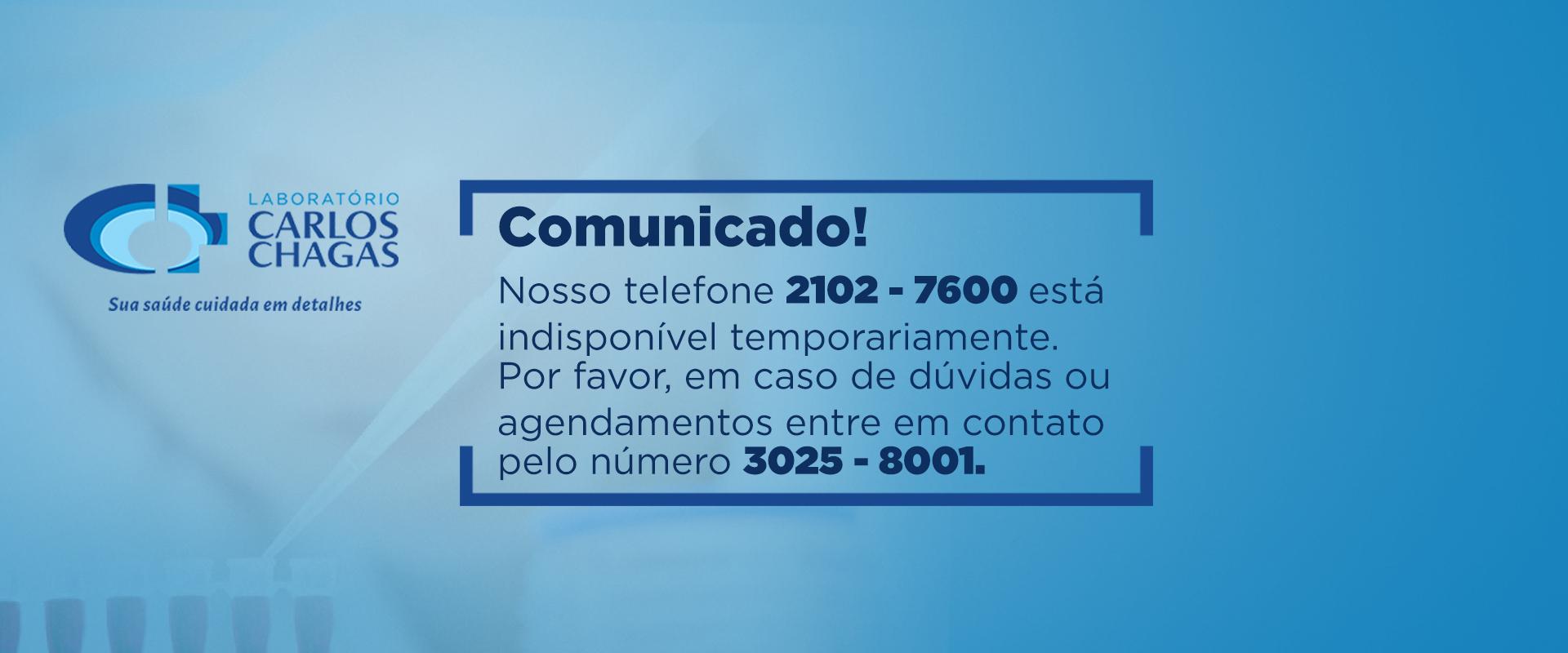 Comunicado telefonema